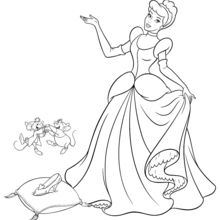 Coloriage Disney : Cendrillon