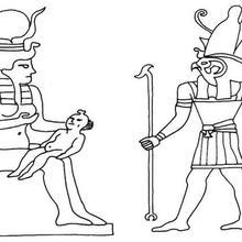 Coloriage de dieux egyptiens