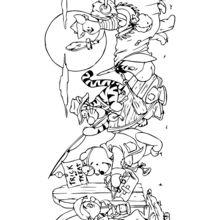 Coloriage : Winnie et ses amis pour Halloween