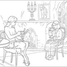 Coloriage MONDE DE NARNIA de Lucy et Oreius