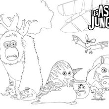 Coloriage : Les As de la Jungle