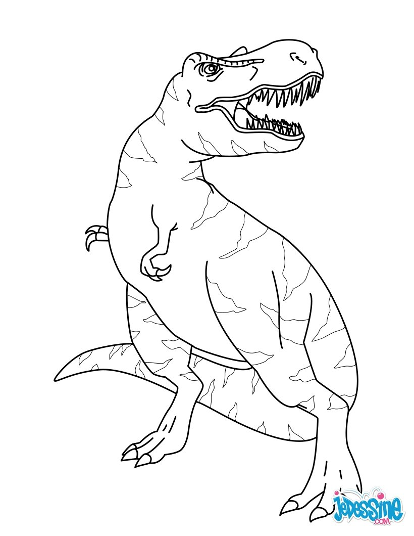 Jurassic World Coloring Pages Pdf : Coloriages tyrannosaure fr hellokids
