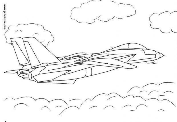 Coloriages coloriage d 39 un avion de chasse - Coloriage d avion ...