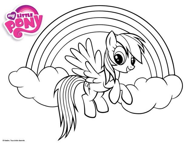 Coloriages rainbow dash et un arc en ciel - Coloriage de my little pony ...