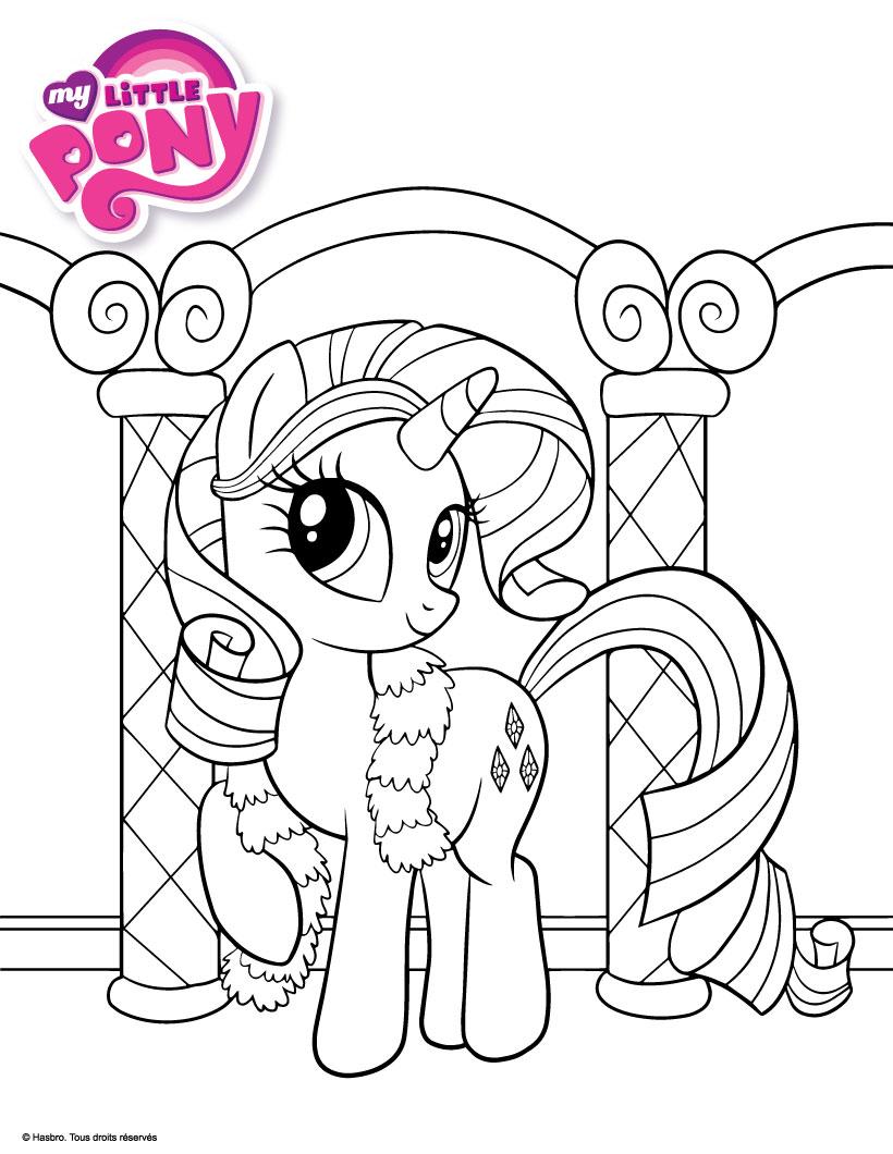 Coloriages rarity - My little pony en dessin anime ...