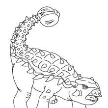 Coloriage : Ankylosaure