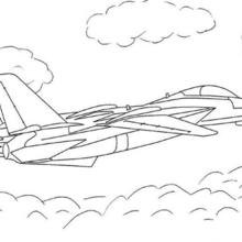 Coloriages coloriage avion airbus en vol - Coloriage avion de chasse ...