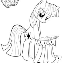 Coloriage : Twilight Sparkle lit