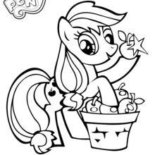 Applejack cueille des pommes