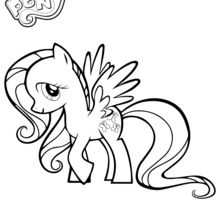 Coloriage : Fluttershy
