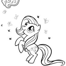 Coloriage my little pony coloriages coloriage - Jeux malitel pony ...