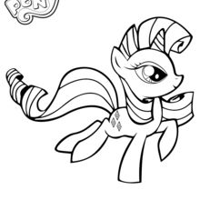 Coloriage : Rarity courant