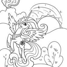 Coloriage : Princesse Celestia