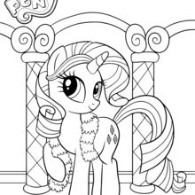 Coloriage : Rarity