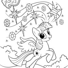 Coloriage : Twilight Sparkle se promène