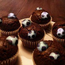 Recette : Les muffins au chocolat spécial foot