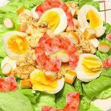 La salade de crevettes