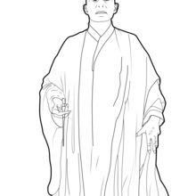Coloriage Harry Potter : Voldemort