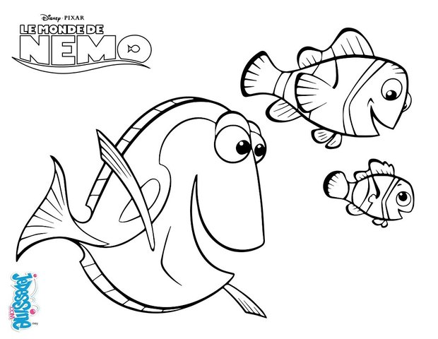 Coloriages marin dory et n mo - Nemo coloriage ...
