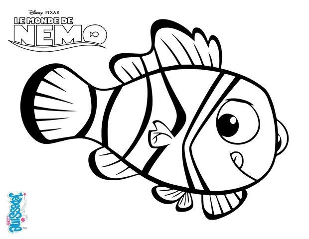 Coloriages n mo le poisson clown - Nemo coloriage ...