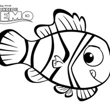 Coloriage Disney : Némo, le poisson clown