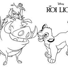 Le Roi Lion - Simba, Timon et Pumba
