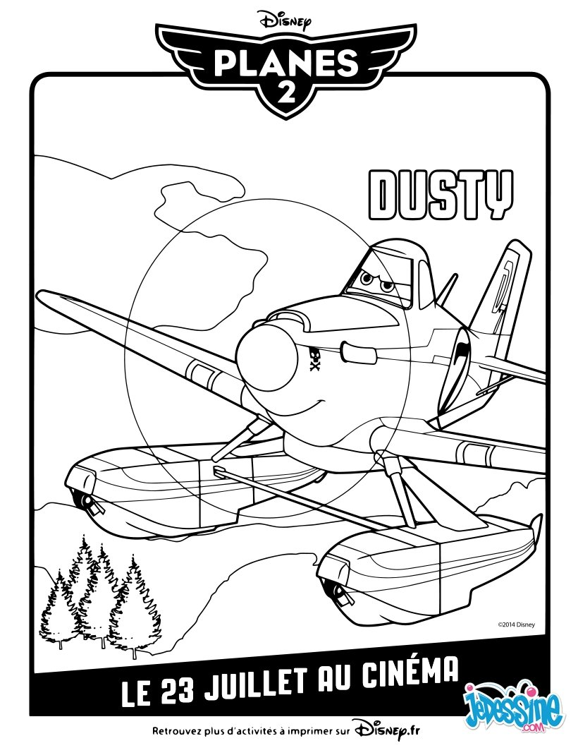 Coloriages planes 2 dusty - Planes coloriage ...