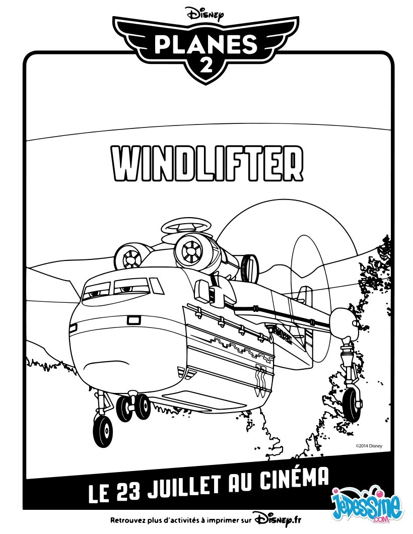 Coloriages planes 2 windlifter - Planes coloriage ...