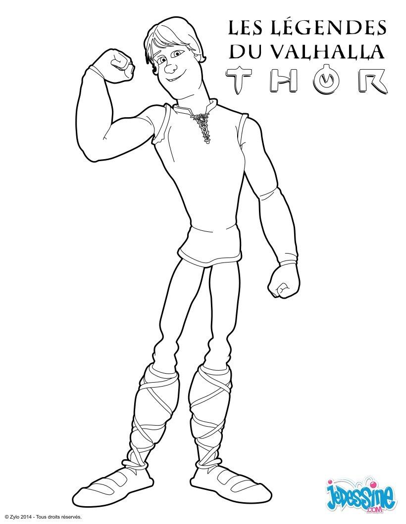 Coloriages le jeune thor - Coloriage thor ...