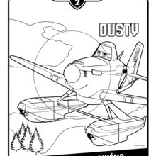 Coloriage : Planes 2 - Dusty