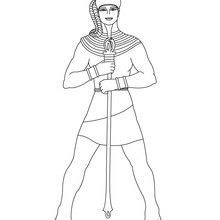 Coloriage : Pharaon avec l'uraeus