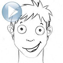 Dessiner une expression du visage : la joie