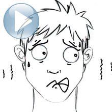 Tuto de dessin : Dessiner une expression du visage : la peur