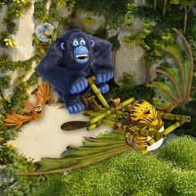Coloriage les as de la jungle melina la loutre - Coloriage as de la jungle ...