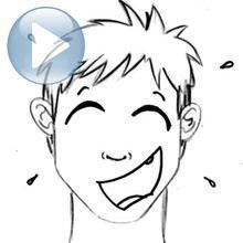 Dessiner une expression du visage : le rire