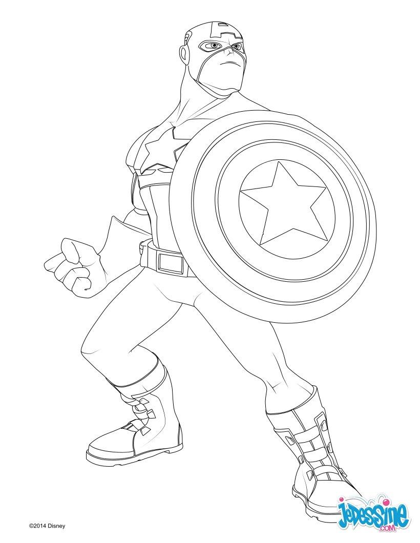 coloriage avengers captain america