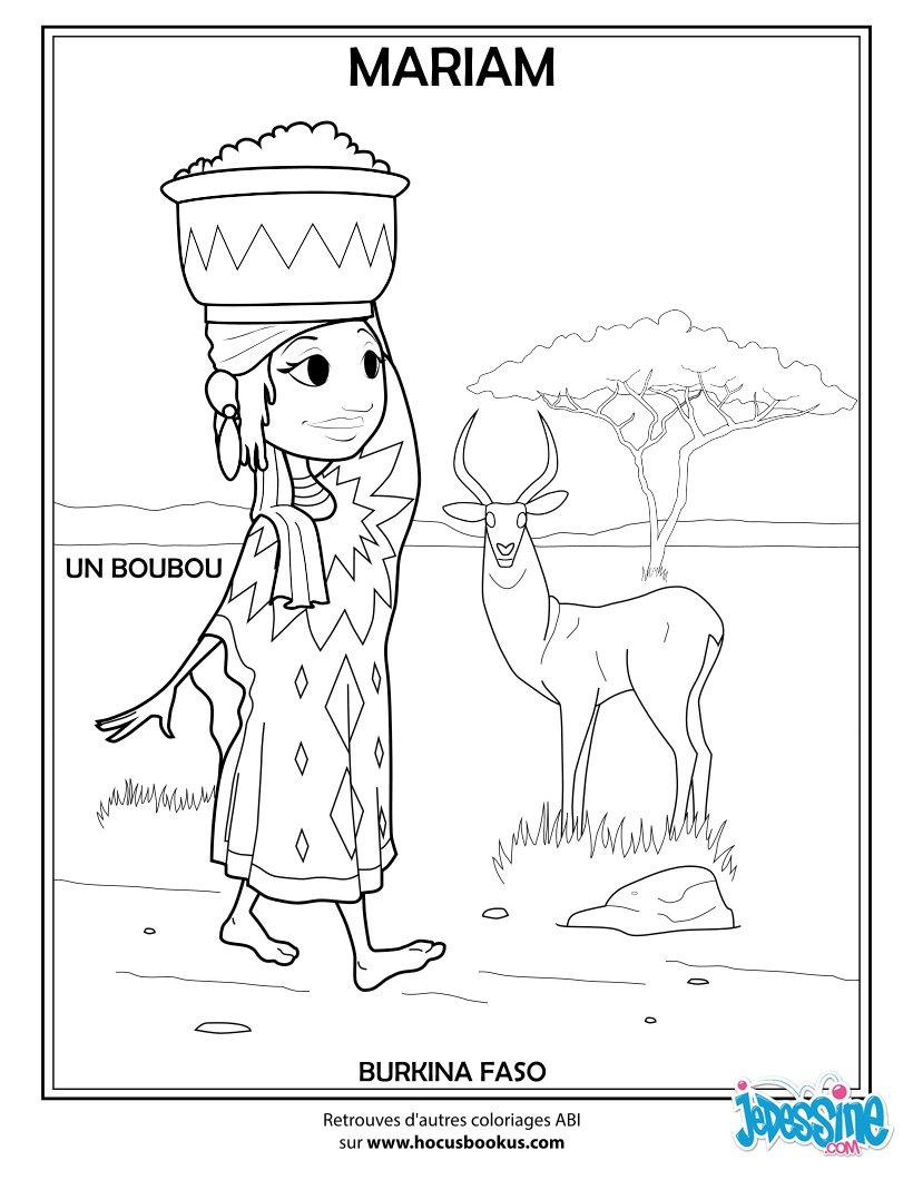 Coloriages africaine - Africaine dessin ...