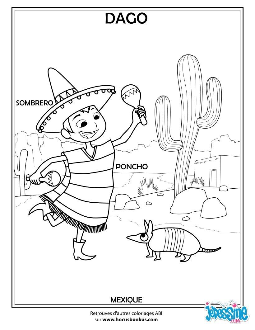 Coloriage Enfants du Monde Russe Russe Mexicain