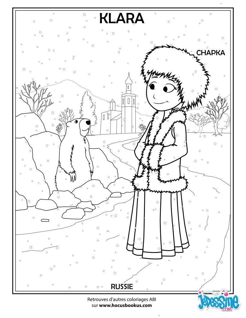Coloriages russe - Coloriage russie ...