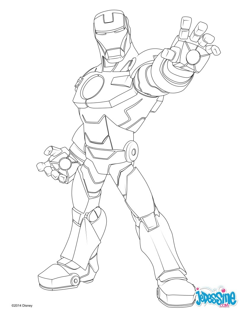 Coloriages avengers iron man - Coloriage ironman ...