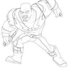 Coloriage : Drax - Les Gardiens de la Galaxie