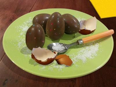 COPIE DE Oeufs farcis au chocolat pour Pâques