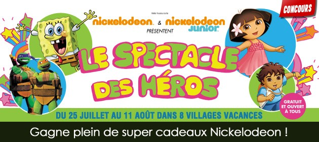 Le spectacle des héros Nickelodeon