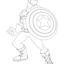 Coloriage Disney : Avengers - Captain America