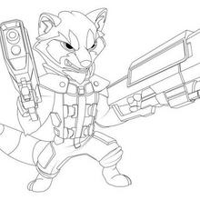 Coloriage : Rocket Raccoon - Les Gardiens de la Galaxie