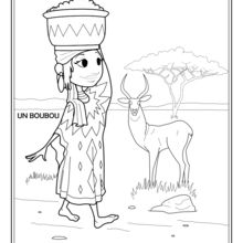 Coloriage : Africaine