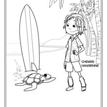 Coloriage : Hawaiien