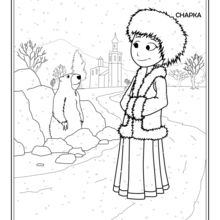 Coloriage : Russe