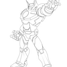 Coloriage Disney : Avengers - Iron Man
