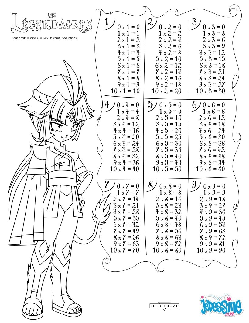 coloring pages for multiplication tables - photo#16